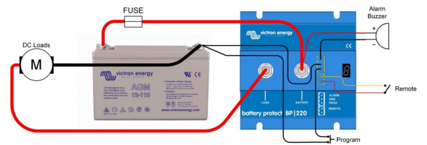 Enermoov - Victron Energy - schéma distribution DC battery protect